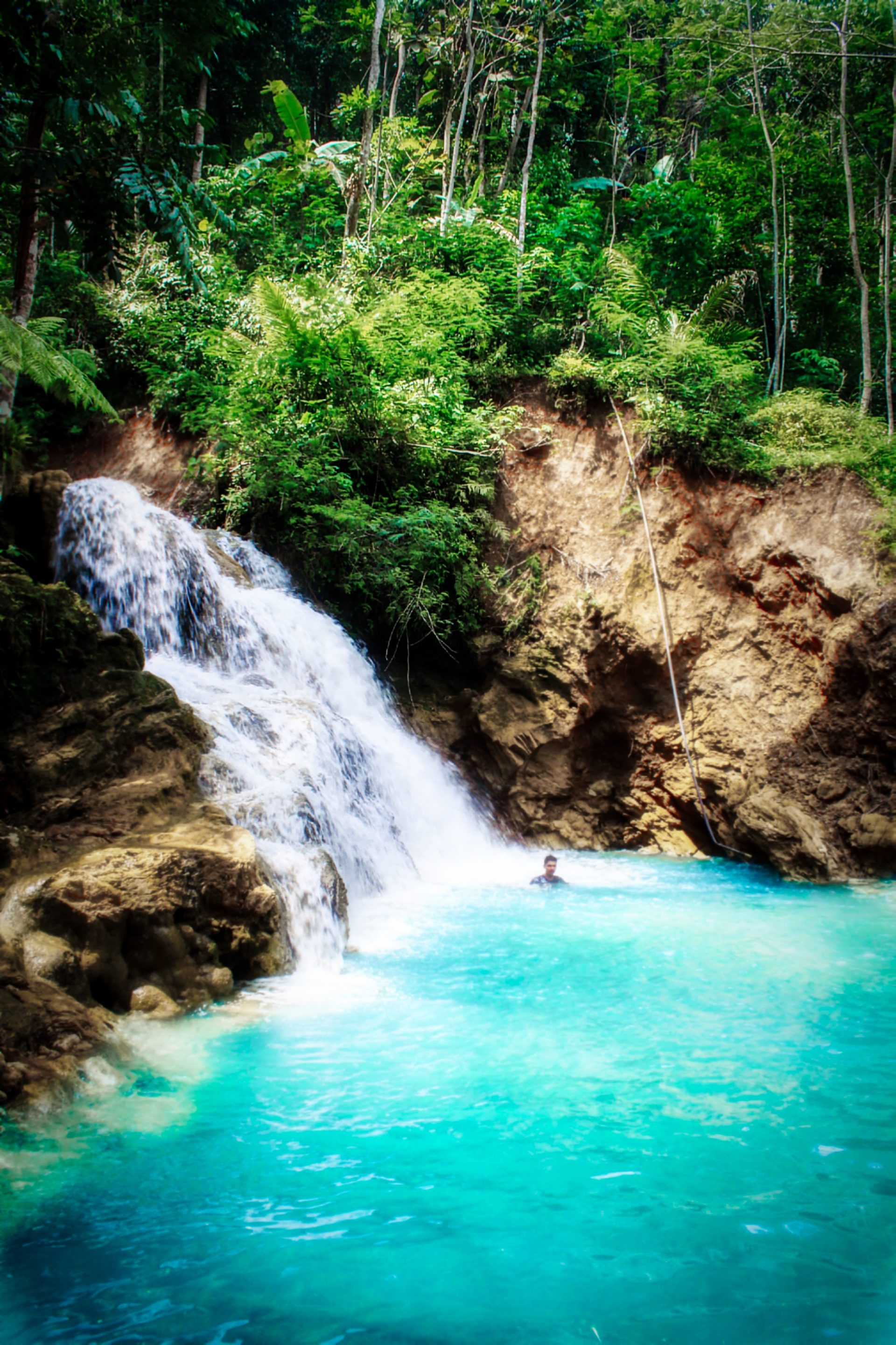 The beauty of Kembang Soka Waterfall